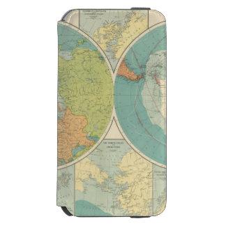 Regiones polares funda cartera para iPhone 6 watson