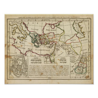 Regions, places in the New Testament Poster