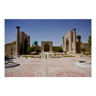 Registan, Samarkand Poster