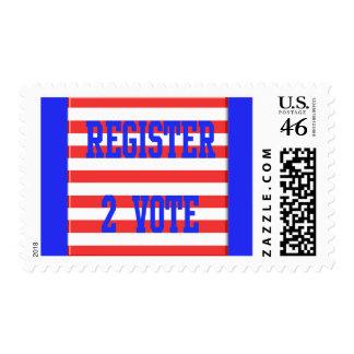 Register 2 Vote in Red White Blue Postage