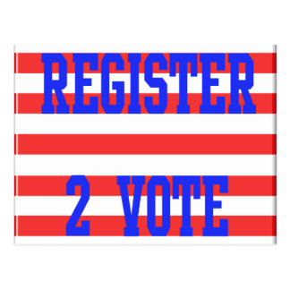 Register 2 Vote in Red, White & Blue Postcard