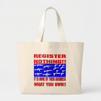 Register Nothing (Guns) Canvas Bags