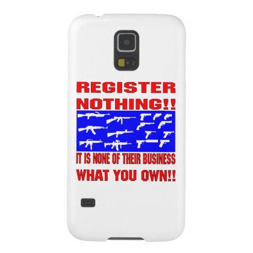 Register Nothing (Guns) Samsung Galaxy Nexus Cover