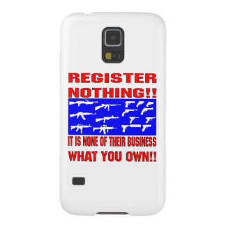 Register Nothing (Guns) Galaxy S5 Cover