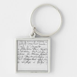 Register of Bach's wedding to Anna Key Chain