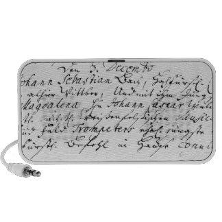 Register of Bach's wedding to Anna Mini Speaker