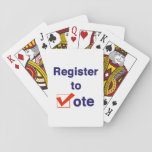"Register To Vote 2018 Playing Cards<br><div class=""desc"">Take control of your future. Register to vote! The 2018 midterms are critical to determining who sets the agenda for the next two years in Washington DC and the State Houses across America. This election will also set the stage for the next presidential election in 2020. In some of the...</div>"