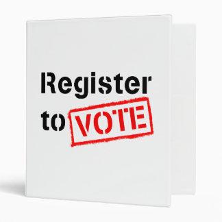Register to Vote Binder
