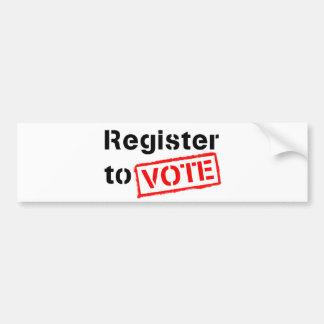 Register to Vote Car Bumper Sticker