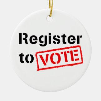Register to Vote Ceramic Ornament