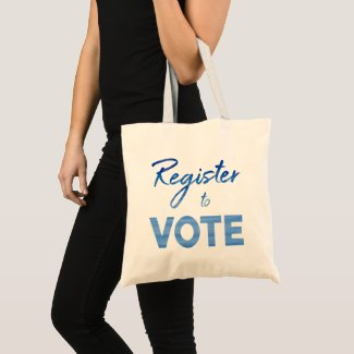Register to Vote – chic blue watercolor typography Tote Bag