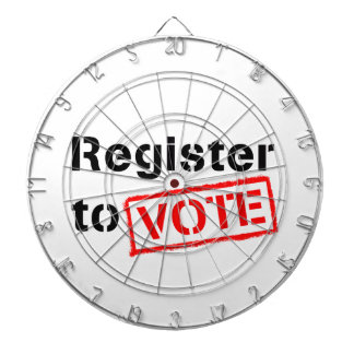 Register to Vote Dartboards