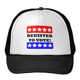 Register to vote mesh hats