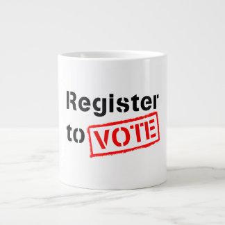 Register to Vote Large Coffee Mug