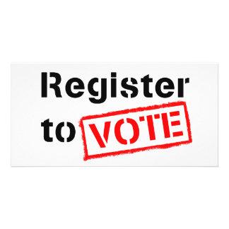 Register to Vote Custom Photo Card