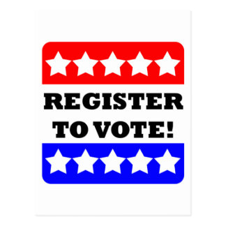 Register to vote postcard