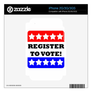 Register to vote skin for iPhone 2G