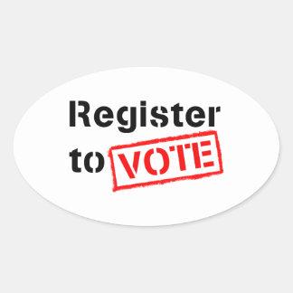 Register to Vote Oval Sticker