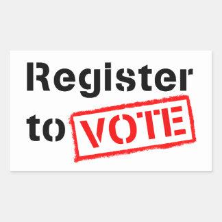 Register to Vote Rectangular Sticker