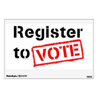 Register to Vote Wall Sticker