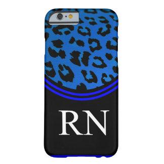 Registere Nurse iPhone 6 case Blue Leopard Design