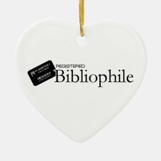 Registered Bibliophile Christmas Ornament