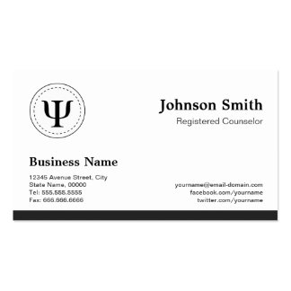 Registered Counselor - Professional Appointment Business Card
