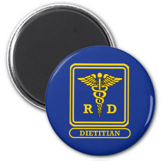 Registered Dietitian 2 Inch Round Magnet