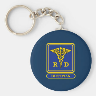 Registered Dietitian Basic Round Button Keychain