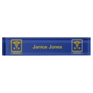 Registered Dietitian Desk Nameplates