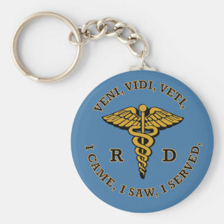 Registered Dietitian RD Caduceus VVV Shield Keychain