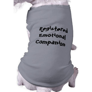 Registered emotional companion dog t shirt