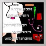 Registered Nurse ARt Poster -