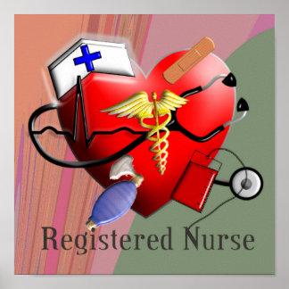 Registered Nurse ART POSTER