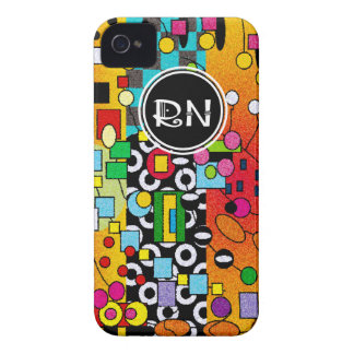 Registered Nurse Artsy Abstract Gifts iPhone 4 Case