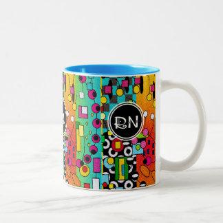 Registered Nurse Artsy Abstract Gifts Mug