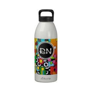 Registered Nurse Artsy Abstract Gifts Drinking Bottles