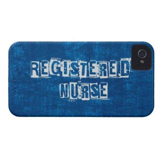 Registered Nurse Blue Distressed iPhone 4 Case-Mate Case