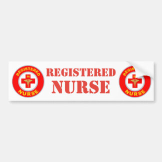 REGISTERED NURSE BUMPER STICKER