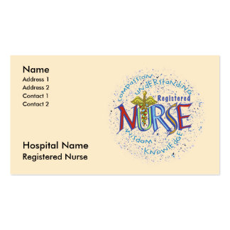 Registered Nurse Double-Sided Standard Business Cards (Pack Of 100)