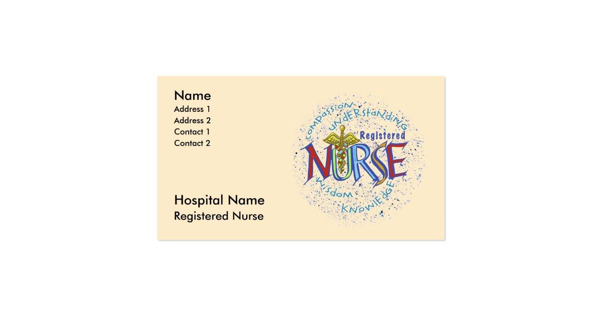 Registered nurse business card zazzle for Nurse business cards