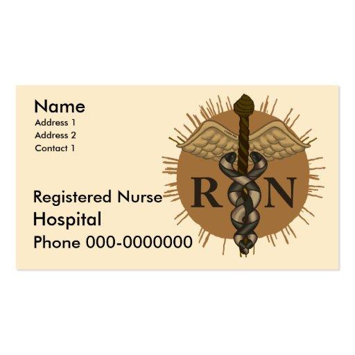 Registered nurse business card template zazzle for Nurse business cards