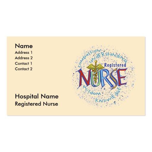 Registered nurse double sided standard business cards for Nurse business cards