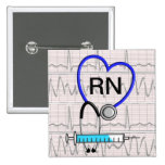 Registered Nurse Button Stethoscope