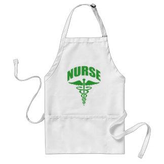 Registered Nurse Caduceus Green Adult Apron