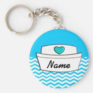 Registered Nurse Chevron Design Keychain