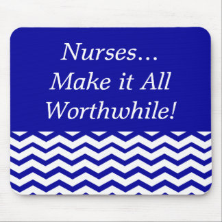 Registered Nurse Chevron Design Mouse Pad