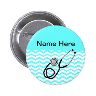 Registered Nurse Chevron Design Pinback Button