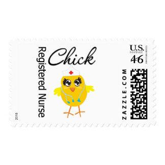 Registered Nurse Chick v1 Stamp