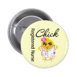 Registered Nurse Chick v2 2 Inch Round Button